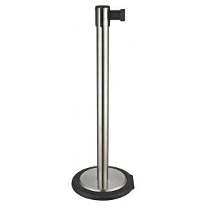 Stanchion with wheel